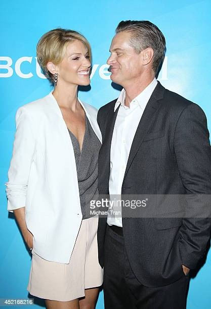 Tricia Helfer and Brian Van Holt arrive at the 2014 Television Critics Association Summer Press Tour NBCUniversal Day 2 held at The Beverly Hilton...