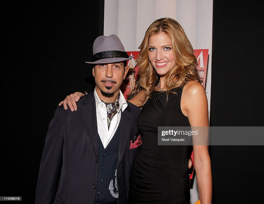 <a gi-track='captionPersonalityLinkClicked' href=/galleries/search?phrase=Tricia+Helfer&family=editorial&specificpeople=227945 ng-click='$event.stopPropagation()'>Tricia Helfer</a> (R) and Dino Magis (L) attend her Maxim Cover Party hosted by SBE at Mi-6 Night club on October 20, 2009 in West Hollywood, California.