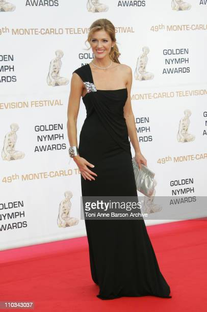 Tricia Helfer arrives at the 49th Monte Carlo Television Festival Closing Ceremony at the Grimaldi Forum on June 11 2009 in MonteCarlo Monaco