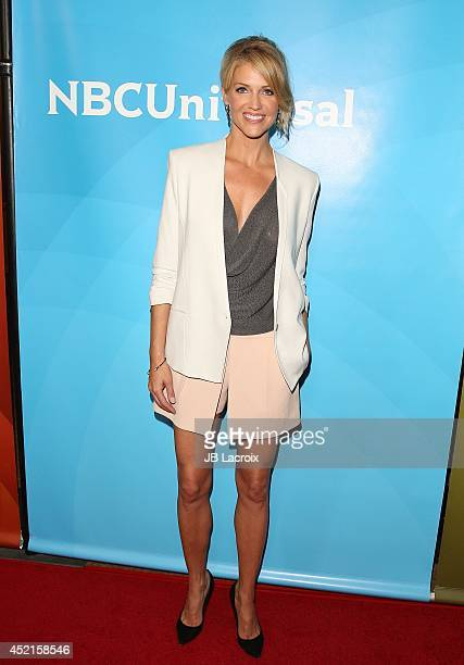 Tricia Helfer attends the 2014 Television Critics Association Summer Press Tour NBCUniversal Day 2 held at the Beverly Hilton Hotel on July 14 2014...