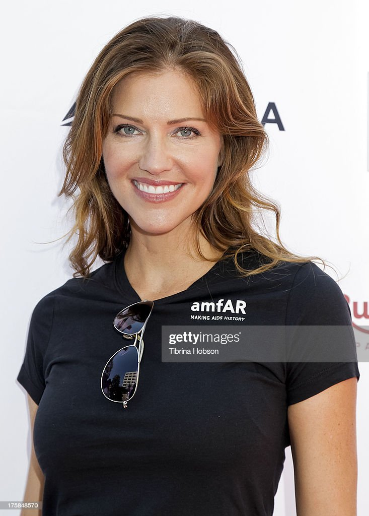 <a gi-track='captionPersonalityLinkClicked' href=/galleries/search?phrase=Tricia+Helfer&family=editorial&specificpeople=227945 ng-click='$event.stopPropagation()'>Tricia Helfer</a> attends the 4th annual Kiehl's LifeRide for amfAR at The Grove on August 8, 2013 in Los Angeles, California.