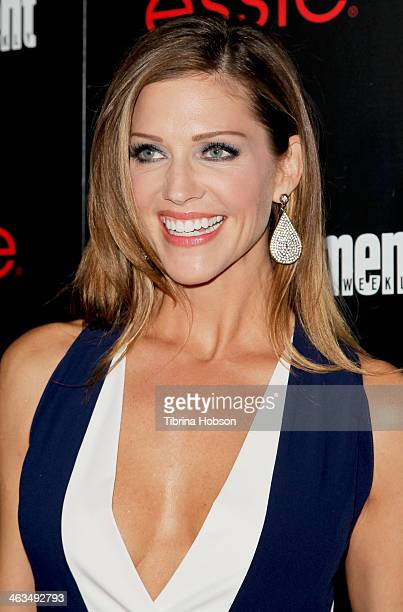 Tricia Helfer attends the Entertainment Weekly SAG Awards preparty at Chateau Marmont on January 17 2014 in Los Angeles California