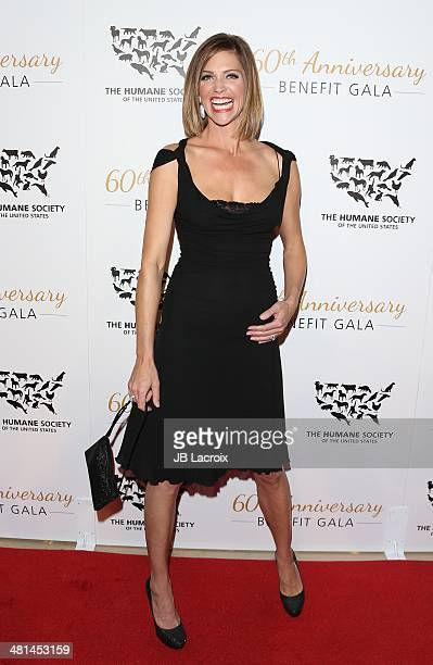 Tricia Helfer attends The Humane Society Of The United States 60th Anniversary Benefit Gala held at The Beverly Hilton Hotel on March 29 2014 in...