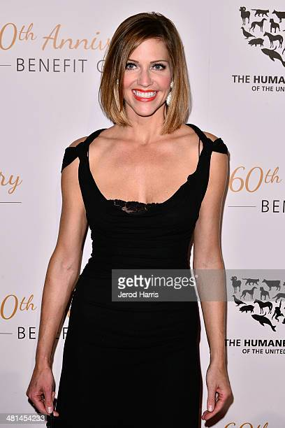 Tricia Helfer attends the Humane Society of the United States 60th Anniversary Benefit Gala at The Beverly Hilton Hotel on March 29 2014 in Beverly...