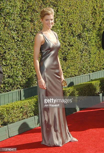 Tricia Helfer during 57th Annual Primetime Creative Arts EMMY Awards Arrivals Red Carpet at Shrine Auditorium in Los Angeles California United States