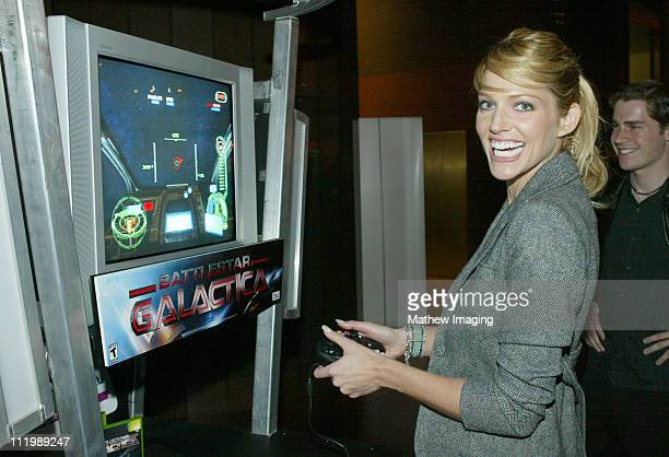 Tricia Helfer during 'Battlestar Galactica' Los Angeles Premiere at The Directors Guild of America in Los Angeles California United States