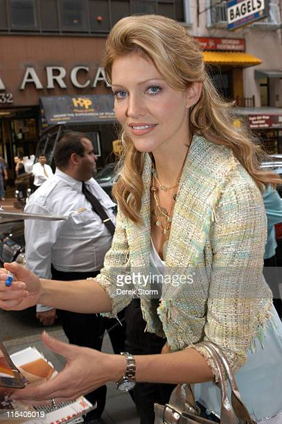 Tricia Helfer during Carole King Ben Jones and Tricia Helfer Visit the 'Today' Show July 15 2005 at Today Show Studios in New York City New York...