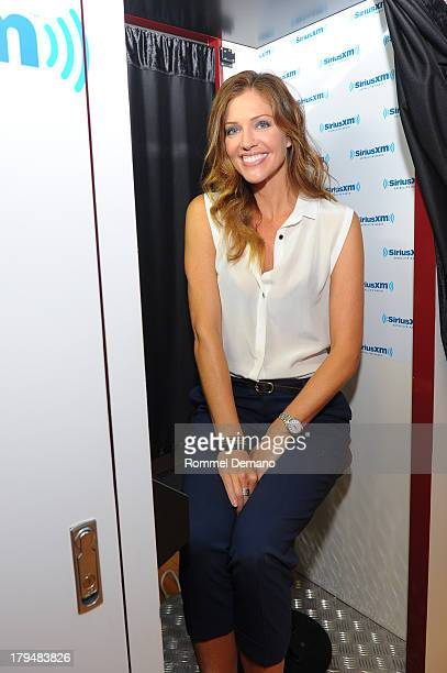 Tricia Helfer visits SiriusXM Studios on September 4 2013 in New York City