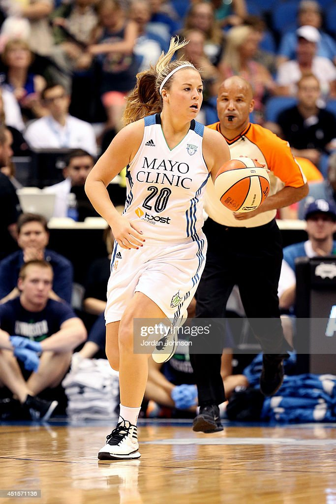 <a gi-track='captionPersonalityLinkClicked' href=/galleries/search?phrase=Tricia+Liston&family=editorial&specificpeople=7420288 ng-click='$event.stopPropagation()'>Tricia Liston</a> #20 of the Minnesota Lynx drives against the Seattle Storm on June 29, 2014 at Target Center in Minneapolis, Minnesota.