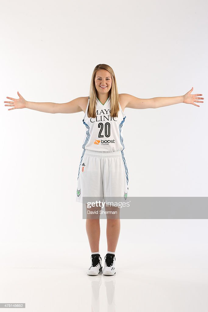 Tricia Liston #20 of the Minnesota Lynx poses for a portrait during 2015 Media Day on May 28, 2015 at the Minnesota Timberwolves and Lynx Courts at Mayo Clinic Square in Minneapolis, Minnesota.
