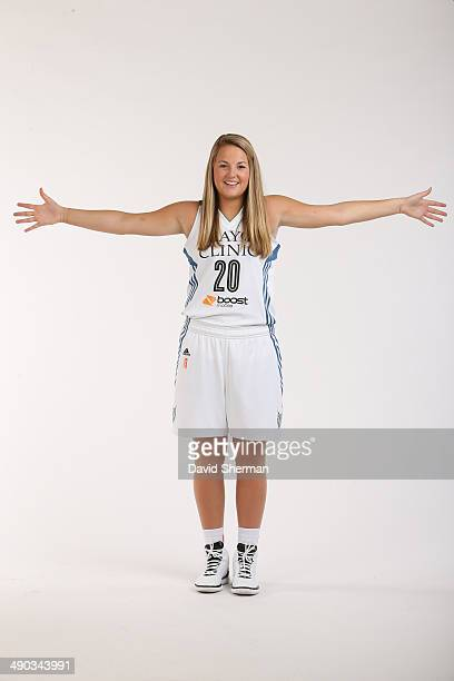 Tricia Liston of the Minnesota Lynx poses for portraits during 2014 Media Day on May 12 2014 at the Minnesota Timberwolves and Lynx LifeTime Fitness...