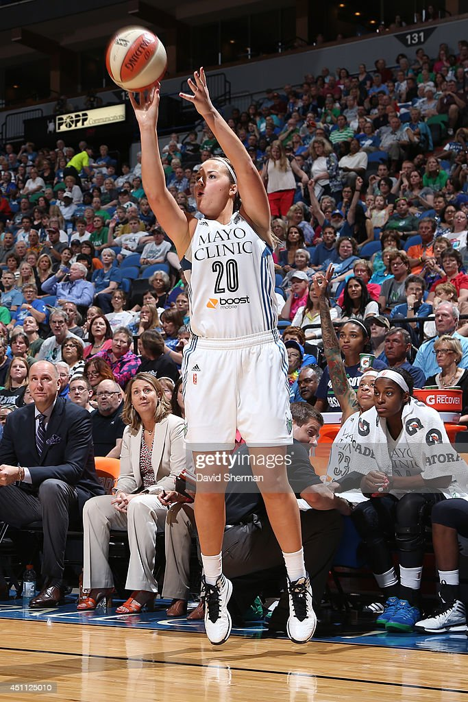 <a gi-track='captionPersonalityLinkClicked' href=/galleries/search?phrase=Tricia+Liston&family=editorial&specificpeople=7420288 ng-click='$event.stopPropagation()'>Tricia Liston</a> #20 of the Minnesota Lynx takes a shot against the Washington Mystics on June 20, 2014 at Target Center in Minneapolis, Minnesota.