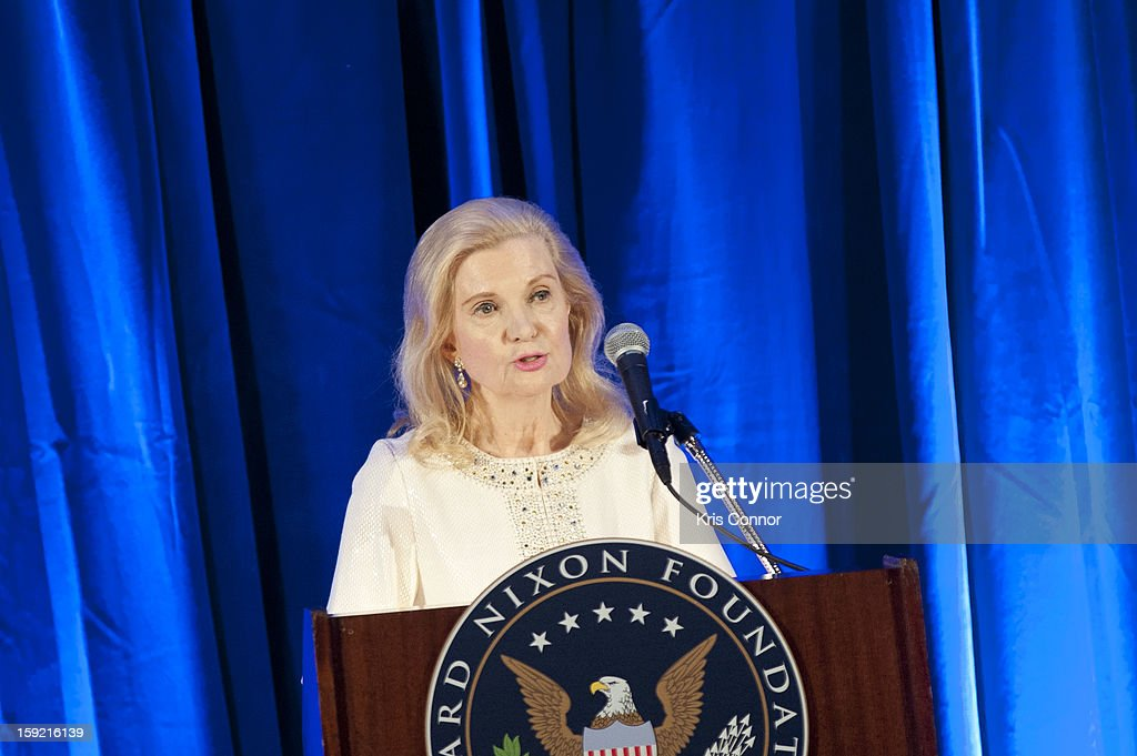 <a gi-track='captionPersonalityLinkClicked' href=/galleries/search?phrase=Tricia+Nixon+Cox&family=editorial&specificpeople=4535413 ng-click='$event.stopPropagation()'>Tricia Nixon Cox</a> speaks during President Nixon's 100th Birthday Gala on January 9, 2013 in Washington, United States.