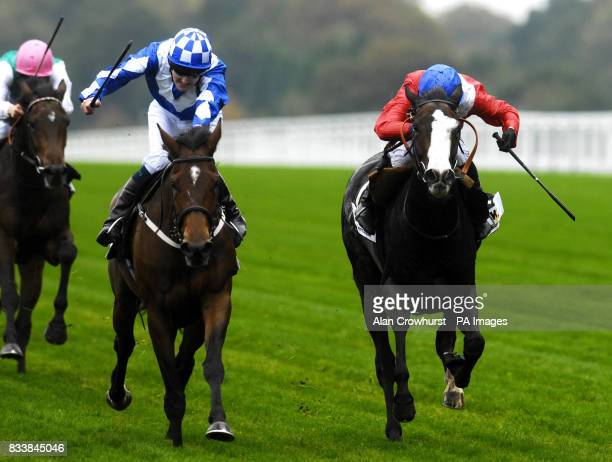 Trick or Treat ridden by Tom Queally wins The Princess Royal Willmott Dixon Stakes from Queens Best and Ryan Moore at Ascot Racecourse Berkshire