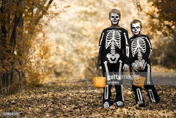 Trick oder Behandlung von Skelette