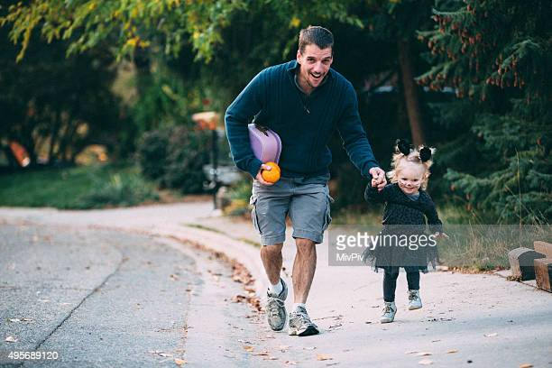 Trick or treating with dad