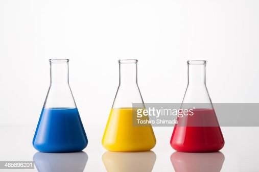 Tricolor conical flask
