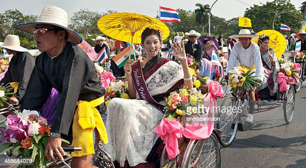 Tricycle Taxis at theFlower Festival Parade