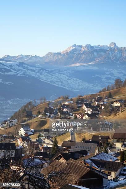 Triesenberg overlooking Mountains