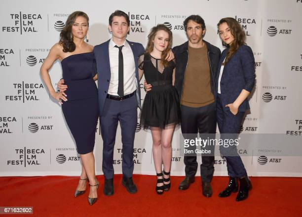 Trieste Kelly Dunn Luke Slattery Nadia Alexander Chris Messina and Quinn Shephard attend the 'Blame' Premiere during 2017 Tribeca Film Festival at...