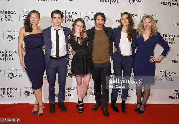 Trieste Kelly Dunn Luke Slattery Nadia Alexander Chris Messina Quinn Shephard and Laurie Shephard attend the 'Blame' Premiere during 2017 Tribeca...