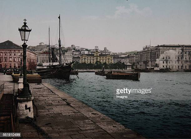 Trieste Piazza Grande with the Lloyd's building About 1910 Photochrom