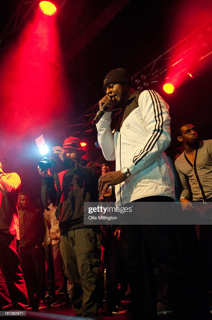 Trilla performs on stage at 'The Eskimo Dance' at 02 Academy on February 9, 2013 in Leicester, England.
