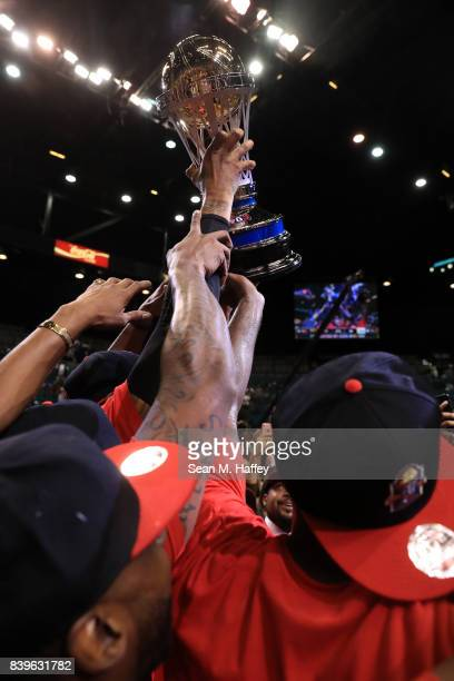 Trilogy celebrate after winning the BIG3 three on three basketball league championship game against 3 Headed Monsters on August 26 2017 in Las Vegas...