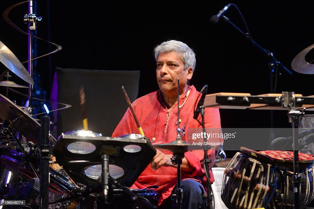 Trilok Gurtu of the Jan Garbarek Group performs on stage during the London Jazz Festival 2012 on November 13, 2012 in London, United Kingdom.