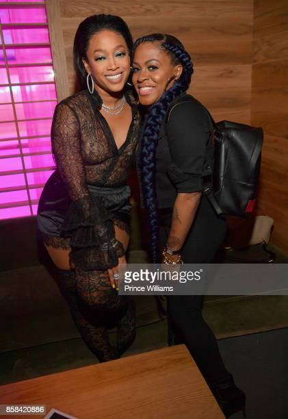 Trina and Lil Mo attend Baller Alert's Bowl With a Baller at Basement Bowl on October 5 2017 in Miami Florida
