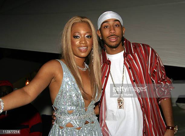 Trina and Ludacris during Trina's Exotic Jungle Birthday Party at Star Island Mansion in Miami Florida United States