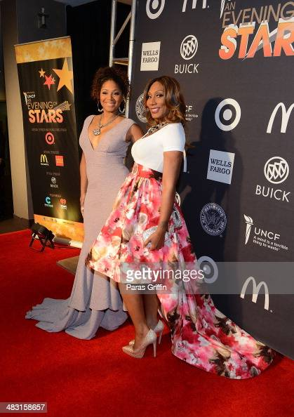 Trina Braxton and Towanda Braxton attends UNCF's 33rd annual An Evening With The Stars at Boisfeuillet Jones Atlanta Civic Center on April 6 2014 in...