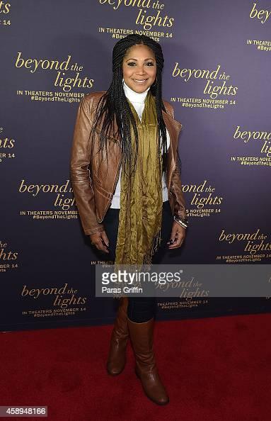 Trina Braxton attends 'Beyond The Lights' Advanced Screening at AMC Phipps Plaza on November 13 2014 in Atlanta Georgia