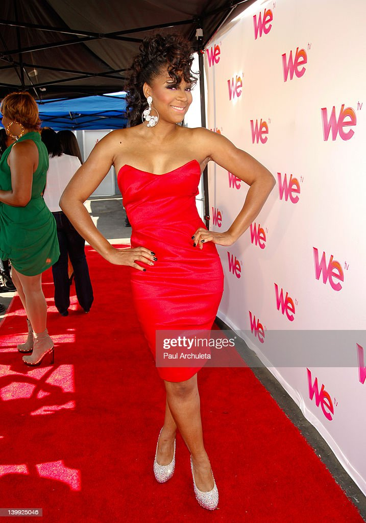Trina Braxton attends the 'Braxton Family Values' reunion special taping at The LA Stock Exchange on February 25 2012 in Los Angeles California
