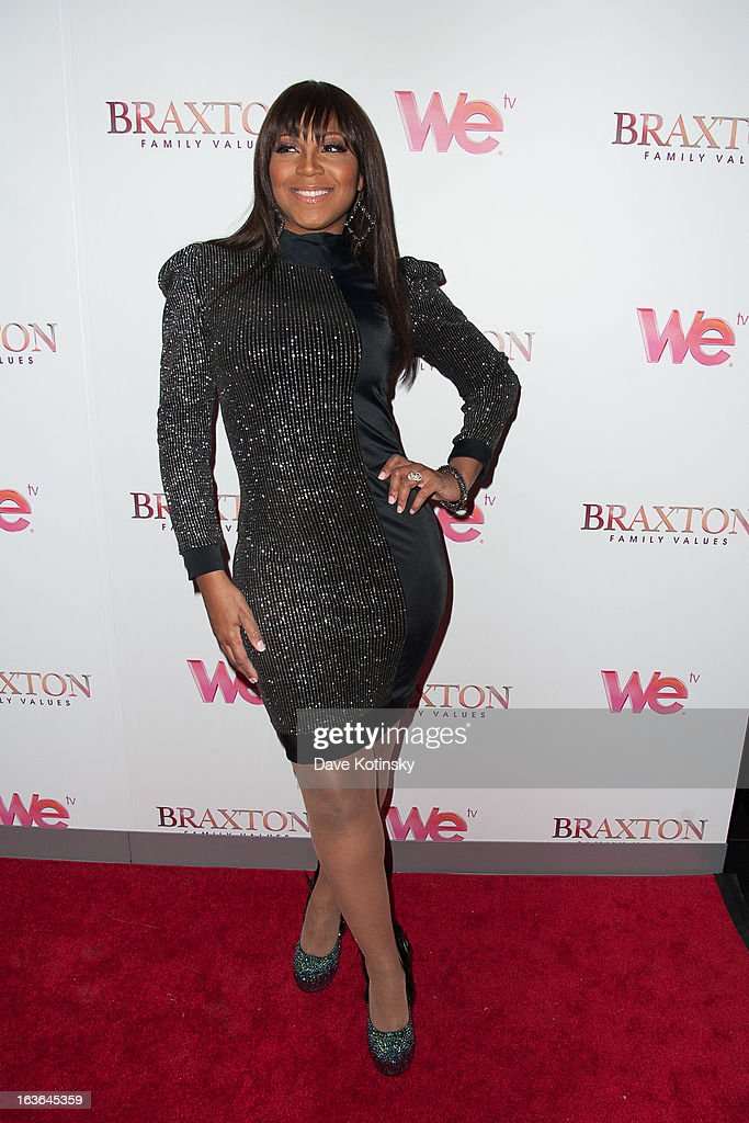 Trina Braxton attends the 'Braxton Family Values' Season Three premiere party at STK Rooftop on March 13 2013 in New York City