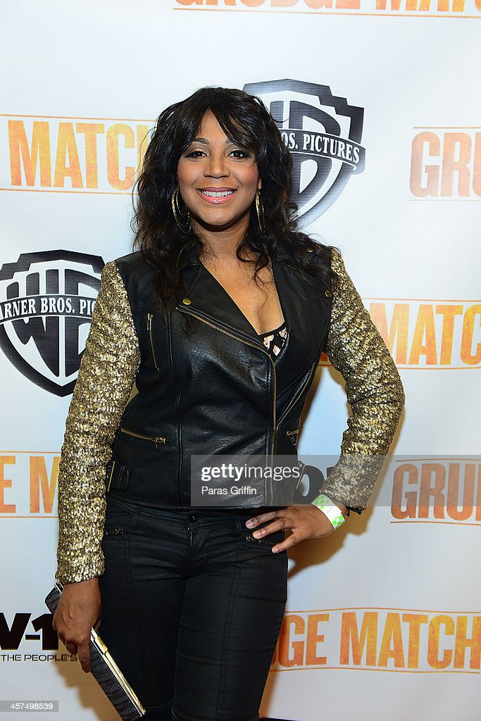 Trina Braxton attends the 'Grudge Match' screening at AMC Parkway Pointe on December 17 2013 in Atlanta Georgia