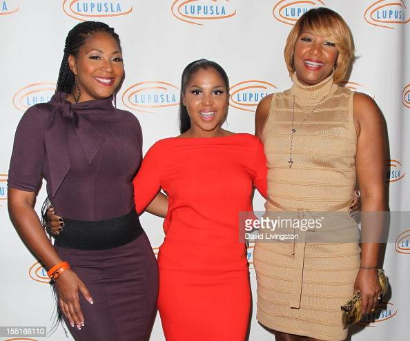 Trina Braxton recording artist Toni Braxton and Traci Braxton attend the 10th Annual Lupus LA Hollywood Bag Ladies Luncheon at the Beverly Wilshire...