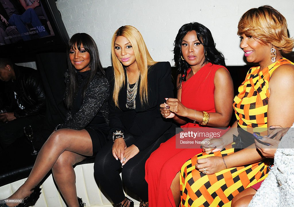 <a gi-track='captionPersonalityLinkClicked' href=/galleries/search?phrase=Trina+Braxton&family=editorial&specificpeople=5880827 ng-click='$event.stopPropagation()'>Trina Braxton</a>, <a gi-track='captionPersonalityLinkClicked' href=/galleries/search?phrase=Tamar+Braxton&family=editorial&specificpeople=2079619 ng-click='$event.stopPropagation()'>Tamar Braxton</a>, <a gi-track='captionPersonalityLinkClicked' href=/galleries/search?phrase=Toni+Braxton&family=editorial&specificpeople=213737 ng-click='$event.stopPropagation()'>Toni Braxton</a>, and Traci Braxton attend the 'Braxton Family Values' Season Three premiere party at STK Rooftop on March 13, 2013 in New York City.