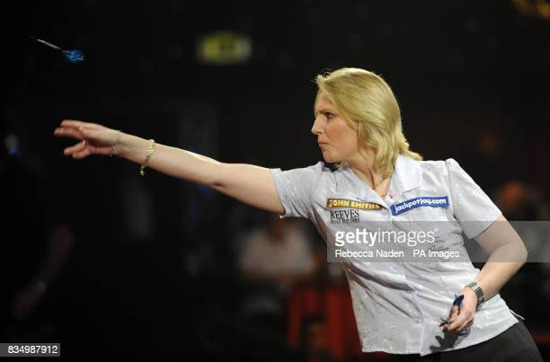 Trina Gulliver during the World Darts Championship Semi Final at Frimley Green Surrey
