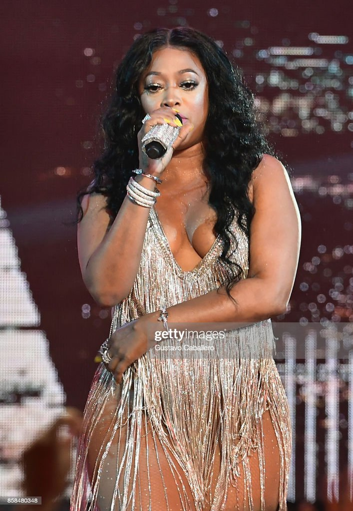 Trina performs onstage during the BET Hip Hop Awards 2017 at The Fillmore Miami Beach at the Jackie Gleason Theater on October 6, 2017 in Miami Beach, Florida.