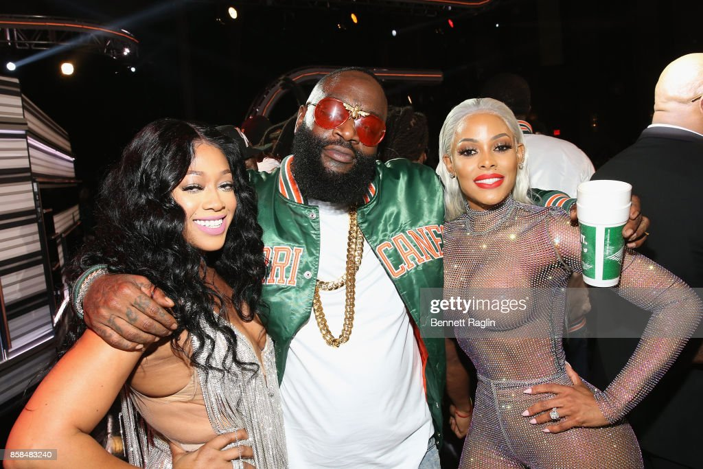 Trina, Rick Ross, and Keyshia Ka'oir attend the BET Hip Hop Awards 2017 at The Fillmore Miami Beach at the Jackie Gleason Theater on October 6, 2017 in Miami Beach, Florida.