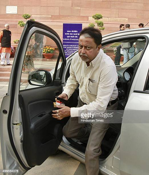 Trinamool Congress leader Mukul Roy at a Parliament House during the winter session on December 1 2015 in New Delhi India Today's Parliament...