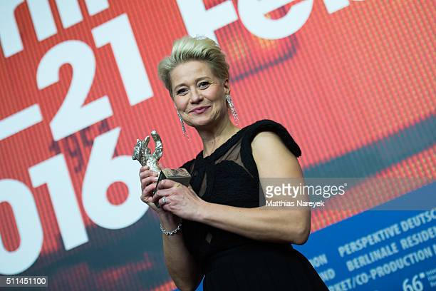 Trine Dyrholm attends the award winners press conference of the 66th Berlinale International Film Festival on February 20 2016 in Berlin Germany