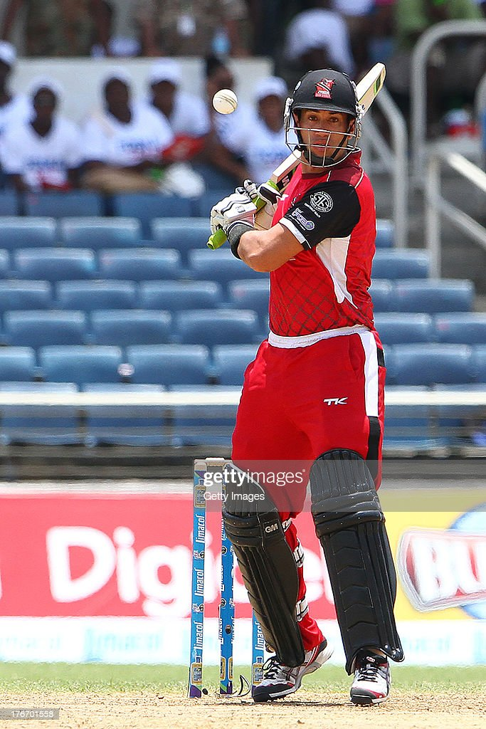 Trinidad and Tobago Red Steel's Ross Taylor during the Eighteenth Match of the Cricket Caribbean Premier League between St. Lucia Zouks v Trinidad and Tobago Red Steel at Sabina Park on August 17, 2013 in Kingston, Jamaica.