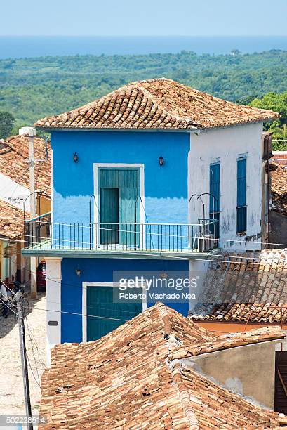 Trinidad de Cuba colonial architectural details Showing multicolor vintage construction Trinidad is like an open air museum of the Spanish colony in...