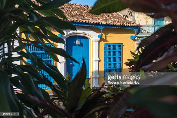 Trinidad de Cuba colonial houses in main plaza The village is a Unesco World Heritage and major tourist landmark in the Caribbean Island