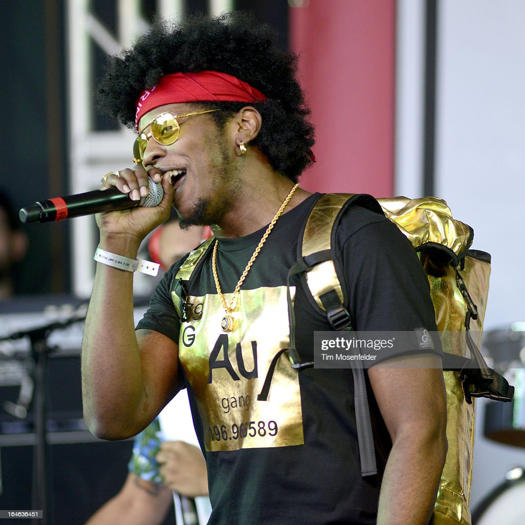 Trinidad Jame$ performs at the Spin Party at Stubbs Bar-B-Que on March 15, 2013 in Austin, Texas.