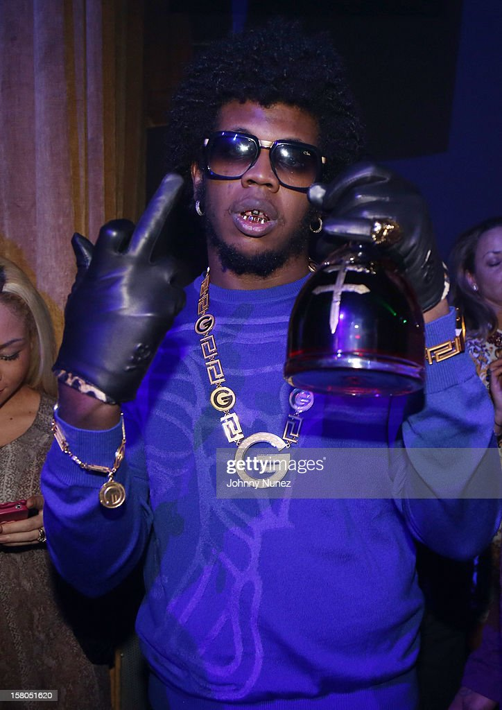 Trinidad James attends the D'USSE cognac launch party at LIV nightclub at Fontainebleau Miami on December 9, 2012 in Miami Beach, Florida.