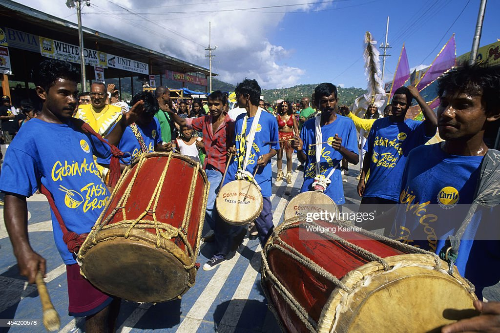 Trinidad, Port Of Spain, Carnival, Parade Of Bands, Drummers.