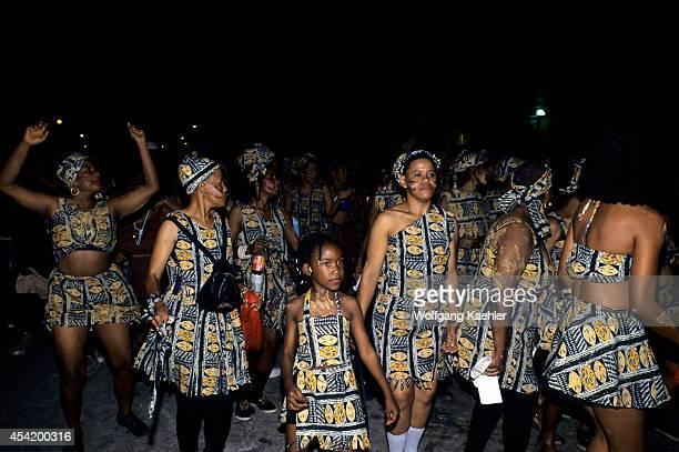 Trinidad Port Of Spain J'ouvert Ju Vay Celebration Carnival Openingpeople Dancing In Street